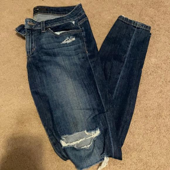 Joe's distressed skinny jeans